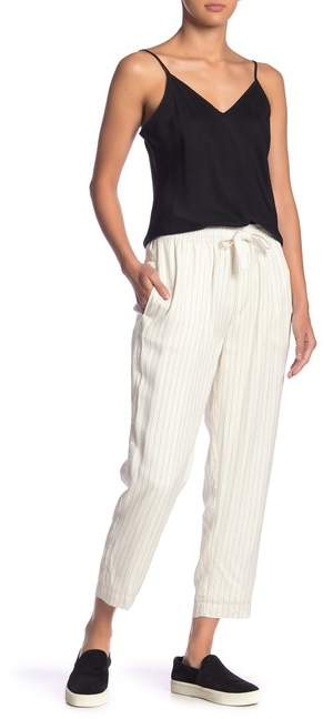 ATM Anthony Thomas Melillo Pinstriped Cropped Pants