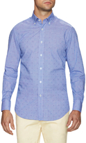 James Tattersall Printed Button-Down Dress Shirt