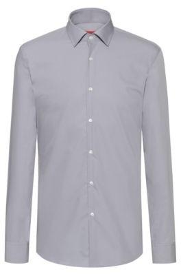 HUGO Slim-fit business shirt in cotton poplin