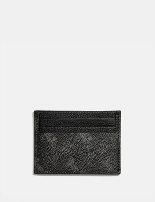 Coach Card Case With Horse And Carriage Print