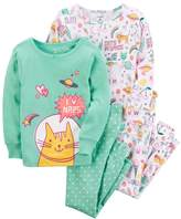 Carter's Girls 4-14 4-pc. Out of this World Cats Pajama Set