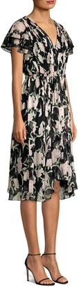 Jason Wu Collection Fit & Flare Floral Silk Dress