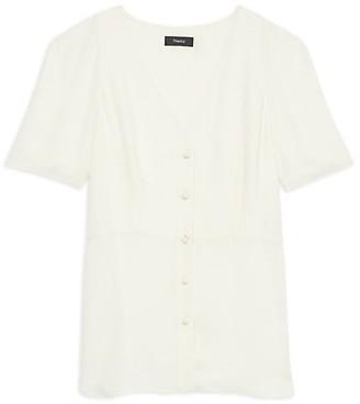 Theory Vest Silk Shirt