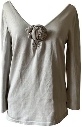 Celine Grey Silk Top for Women Vintage