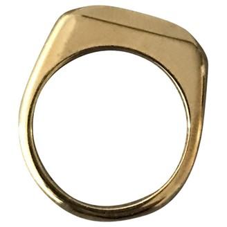 Celine Gold Metal Rings