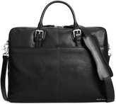 Cole Haan Pebbled Leather Zip-Top Attache Bag