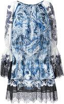 Roberto Cavalli abstract print shift dress - women - Cotton - 40
