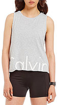 Calvin Klein Cut-Off Logo Drop Armhole Crop Tank