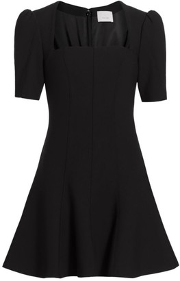 Cinq à Sept Joy Short Puff-Sleeve A-Line Dress