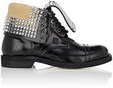 Loewe Men's Studded Leather Cap-Toe Boots-BLACK