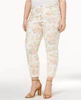 Charter Club Plus Size Bristol Jacquard Capri Skinny Jeans, Only at Macy's