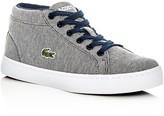 Lacoste Boys' Straightset Knit Chukka Mid Top Sneakers