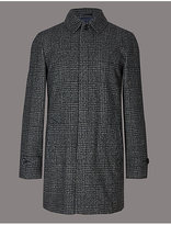 Autograph Wool Blend Checked Coat