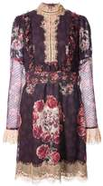 Anna Sui rose print high neck dress