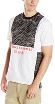 Crooks & Castles Men's Knit Short Sleeve Top-Network, White/Black