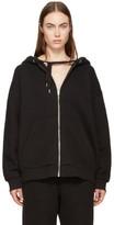 Alexander Wang Black Fleece Zip Hoodie