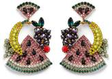 Elizabeth Cole 'Fruit Salad' Swarovski crystal drop earrings