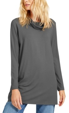 Eileen Fisher Cowl-Neck Knit Tunic, Created for Macy's, Available in Regular & Petite Sizes