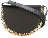 Paco Rabanne chain trimmed cross-body bag - women - Silk/Leather - One Size