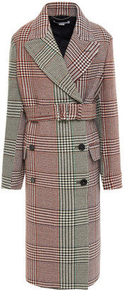Stella McCartney Double-breasted Prince Of Wales Checked Wool Coat