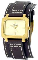 M&M Women's Quartz Watch Analogue Display and Leather Strap M11607-812