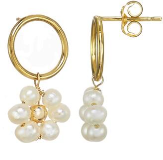Kozakh Girasol Geniune Pearl Drop Earrings