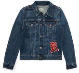 Ralph Lauren 7-16 Embroidered Denim Jacket