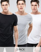 Asos T-shirt With Boat Neck 3 Pack Save