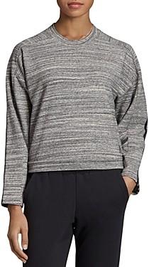 adidas Triple Stripe Melange Cropped Sweatshirt