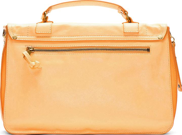 Proenza Schouler Apricot Orange PS1 Medium Lux Leather Shoulder Bag