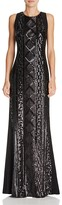 Adrianna Papell Sequin Front Gown