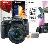 Canon EOS Rebel T6s 24.2MP Digital SLR Camera with 16GB MicroSD EVO Memory Card and Digital Creative Suite 2.0