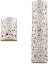 Feiss Azalia White Taupe Ceramic / Beach Wood 1-Light Wall Sconce