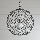 "Crate & Barrel Hoyne 21.5"" Iron Pendant"