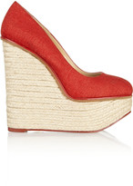 Charlotte Olympia Carmen canvas wedge espadrilles