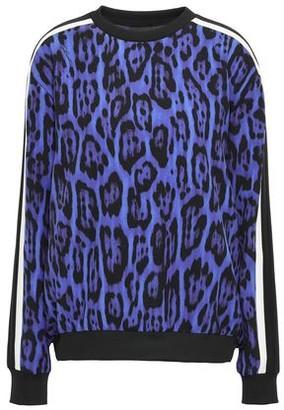 Just Cavalli Striped Leopard-print Stretch-crepe Sweatshirt