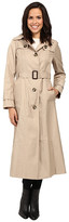 London Fog Hooded Single Breasted Trench
