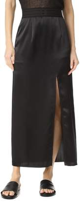 Baja East Women's Satin Back Crepe Skirt