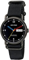 Jack Spade Men's WURU0147 Analog DisplaySwiss Quartz Black Watch