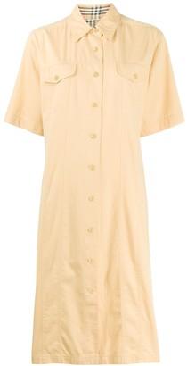 Burberry Pre Owned 1990s short-sleeved shirt dress