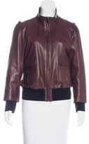 Fendi Leather Zip Jacket