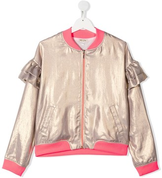 Kenzo Kids TEEN metallic bomber jacket