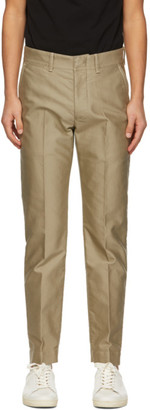 Tom Ford Beige Compact Military Chino Trousers