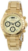 "Invicta Women's 14931 ""Speedway"" 18k Yellow Gold Ion-Plated Stainless Steel Bracelet Watch"