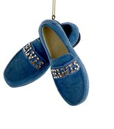 Kurt Adler Elvis Presley Blue Suede Shoes CHRISTMAS ORNAMENT New