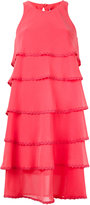 Blumarine layered flared dress
