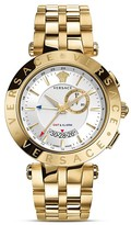 Versace V-Race GMT Alarm Stainless Steel and Gold PVD Watch, 46mm