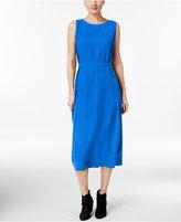 Eileen Fisher Silk Georgette Crepe Wrap Dress, Regular & Petite