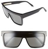 Victoria Beckham Women's 57Mm Flat Top Sunglasses - Black/ Black