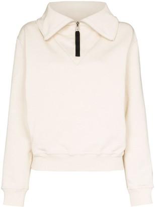 Reebok x Victoria Beckham x Victoria Beckham cropped high neck sweatshirt